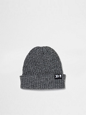 Mössor - River Island Grey ribbed fisherman beanie hat