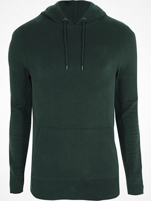 Street & luvtröjor - River Island Forest green muscle fit hoodie