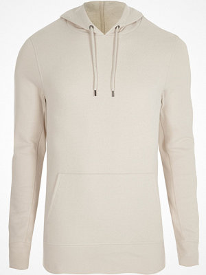 Street & luvtröjor - River Island Stone muscle fit hoodie
