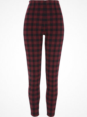 River Island River Island Womens Red check leggings