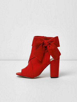 Boots & kängor - River Island Red bow side shoe boots