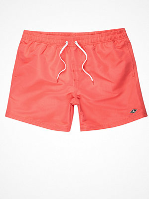 Badkläder - River Island Coral orange swim shorts