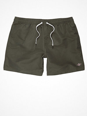 Badkläder - River Island Khaki green swim shorts