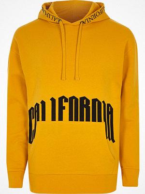 Street & luvtröjor - River Island Dark yellow 'California' hoodie
