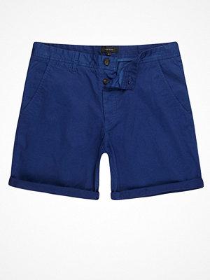 Shorts & kortbyxor - River Island Blue slim fit chino shorts