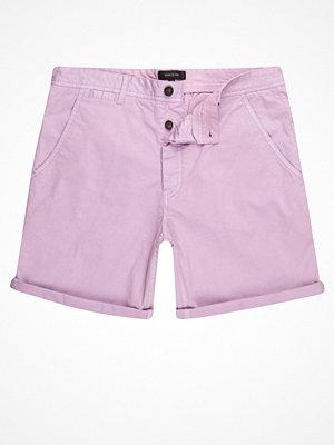Shorts & kortbyxor - River Island Light purple slim fit chino shorts
