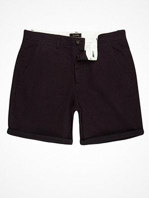 Shorts & kortbyxor - River Island Purple textured slim fit chino shorts