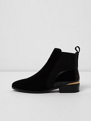 Boots & kängor - River Island River Island Womens Black suede chelsea boots