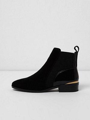 Boots & kängor - River Island Black suede chelsea boots