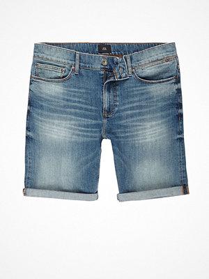 Shorts & kortbyxor - River Island Blue skinny green cast denim shorts