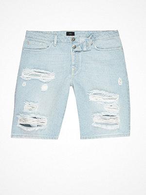 Shorts & kortbyxor - River Island Light blue wash ripped slim fit denim shorts