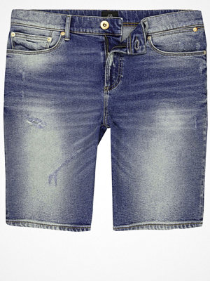Shorts & kortbyxor - River Island Blue washed skinny denim shorts