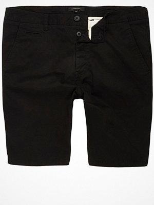 Shorts & kortbyxor - River Island River Island Mens Black slim fit chino shorts