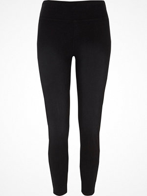 Leggings & tights - River Island Black high waisted denim leggings