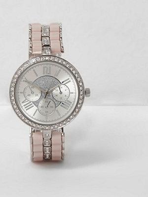 Klockor - River Island Silver tone diamante watch