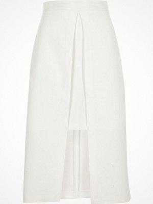 Kjolar - River Island White wrap midi skirt