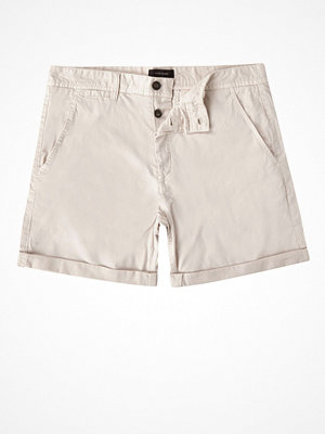 Shorts & kortbyxor - River Island Stone chino shorts