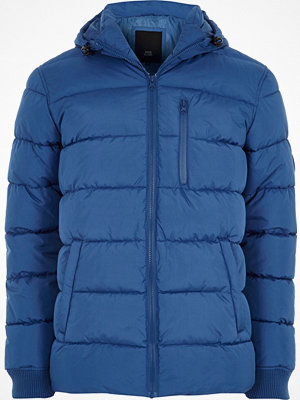 River Island Blue hooded puffer jacket