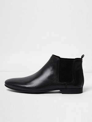 Boots & kängor - River Island River Island Mens Black leather chelsea boots