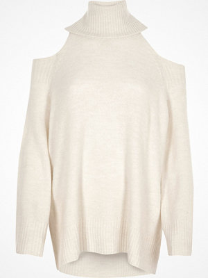 River Island River Island Womens Cream cold shoulder roll neck jumper