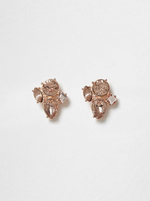 River Island Rose gold tone diamante cluster stud earrings