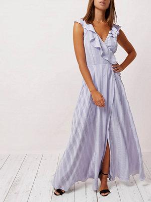 River Island River Island Womens Lilac stripe frill wrap maxi dress