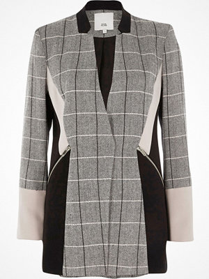 River Island River Island Womens Black check colour block blazer