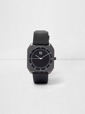 Klockor - River Island River Island Mens Black strap square case watch