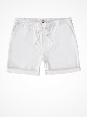 River Island White drawcord waist pull-on shorts