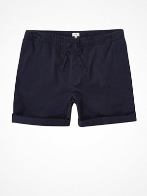 Shorts & kortbyxor - River Island River Island Mens Navy drawcord waist pull-on shorts