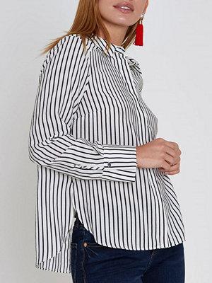River Island River Island Womens Petite White stripe bow back shirt