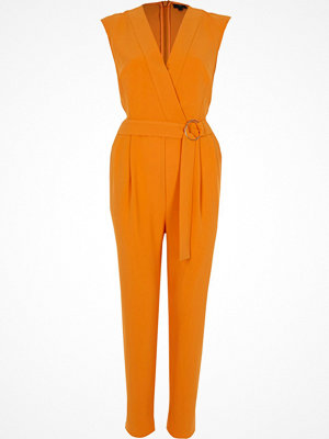 Jumpsuits & playsuits - River Island River Island Womens Orange sleeveless tailored jumpsuit