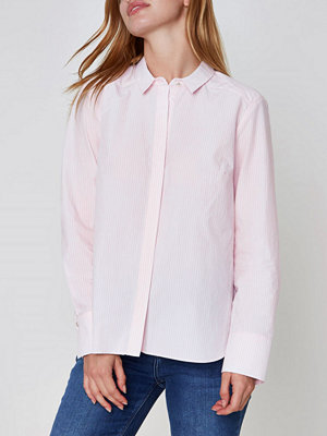 River Island River Island Womens Petite Pink pinstripe bow back shirt