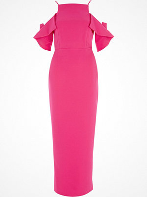 River Island River Island Womens Bright Pink frill sleeve bodycon maxi dress