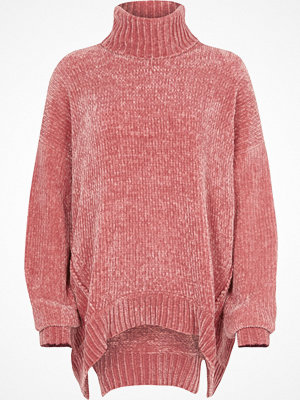 River Island River Island Womens Pink chenille knit oversized roll neck jumper