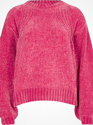 River Island River Island Womens Pink chenille knit balloon sleeve jumper