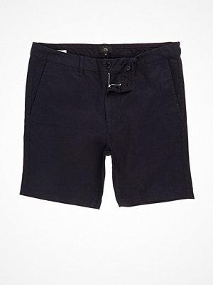 Shorts & kortbyxor - River Island River Island Mens Navy chino shorts