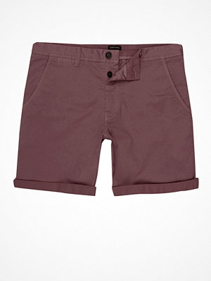 Shorts & kortbyxor - River Island Berry Red rolled hem chino shorts