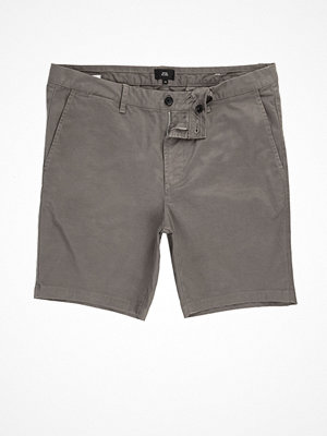 Shorts & kortbyxor - River Island Grey chino shorts
