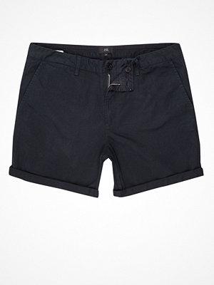 Shorts & kortbyxor - River Island River Island Mens Navy rolled hem chino shorts