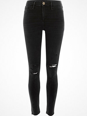 River Island Black washed Molly distressed jeggings