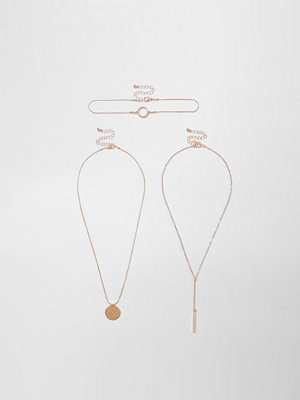 Chokers - River Island River Island Womens Rose Gold tone circle choker set
