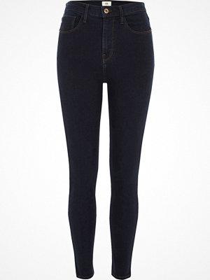 River Island Dark Blue high waisted Harper skinny jeans
