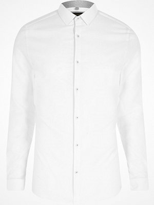 Skjortor - River Island Big and Tall White long sleeve shirt