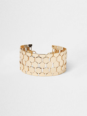 River Island armband River Island Womens Gold tone chainmail bracelet