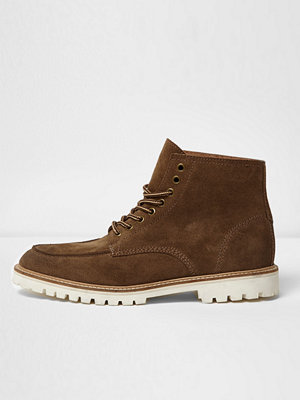 Boots & kängor - River Island River Island Mens Brown suede cleated sole work boots