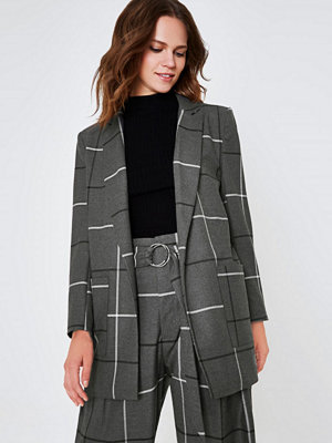 River Island River Island Womens Grey wide check oversized blazer