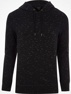 River Island Black long sleeve muscle fit hoodie