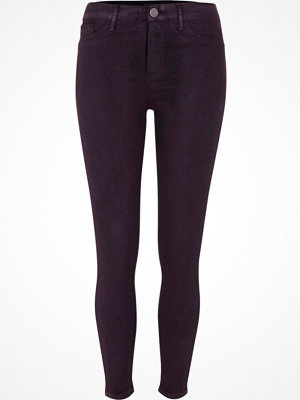 River Island Purple wash coated Molly skinny jeggings