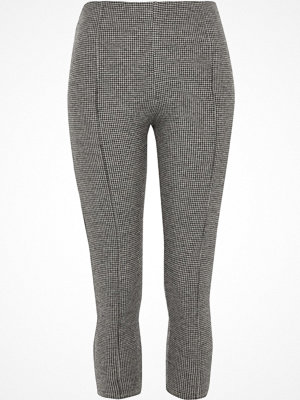 Leggings & tights - River Island River Island Womens Petite Grey herringbone check leggings